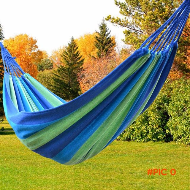 Hight Quality 2016 New Portable Hammock Cotton Rope Outdoor Swing Fabric Camping Hanging H