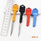 [4 Color] Protable Key Fold Knife Key Pocket Knife Key Chain Knife Peeler Mini Camping Key