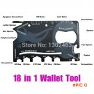 18 in 1 Wallet Credit Card Tactical Pocket Military Survival Camping Rescue Hand Ninja Caz