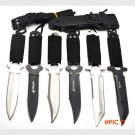 1xHaller Leggings/Paratroopers Knife Stainless Steel Diving Straight knife Outdoor Surviva