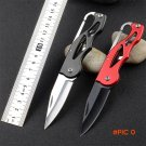 Protable Pocket Knife Folding Fold Hunting camping Tactical Rescue Surrival Key Ring keych