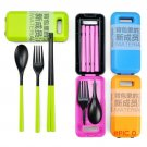 Outdoor Travel Portable Travel Cutlery Fork Chopsticks Spoon Eco-friendly Tableware Campin