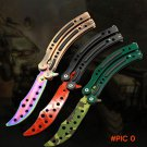 The latest design coolest Butterfly in knife training knife stainless steel knife camping