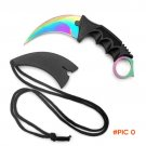 CS GO Counter Strike Golden Karambit Knife Neck Knife with Sheath Tiger Tooth Real game Kn
