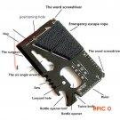 Outdoor multi-purpose knife card umbrella rope knife survival tool card SOS card Camping T