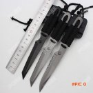 Titanium Coating Fixed Blade Straight Knife Stainless Steel 3Cr13 Diving Survival Knife Pa