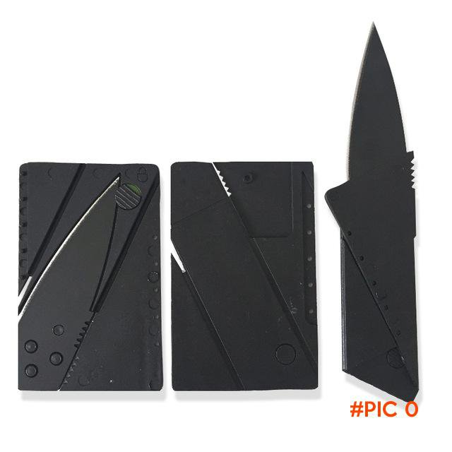2 PCS Card Knife Folding Knife Credit Card Tool Mini Wallet Camping Outdoor Pocket Tools T