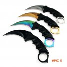 CS GO Tactical Fixed Knife Never Fade Counter Strike Karambit Outdoor Combat Claw Knives S