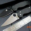 New sale Spider C81 Para Military 2 Folding Blade Knife 9CR13MOV Blade Carbon Fiber Handle