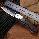 WTT Handmade Forged Pattern Steel Folding Pocket Knife Camping EDC Tools Damascus Tactical