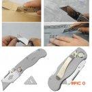 Stainless Steel Utility knives Cut Paper Folding Art Knife Survival Hunting Pocket Knife C