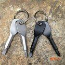 Mini Multitool Key ring Keychian Screwdriver Survival Knife Bottle Opener Multi Function T