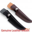 Multi-function knife sheath 18.5cm Genuine Leather sheath with waist belt buckle Outdoor c