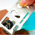 1 Pcs Credit Card Survival Knife,11 In 1 Multi Function Stainless Steel Portable Wallet Kn