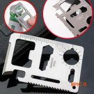 11 in 1 Pocket Camping Knife Hunting Tactical Credit Card Multi Tools Survival Military Kn