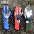 EDC Outdoor camping supplies Multi-functional multi-purpose Spoon Fork knife tableware por