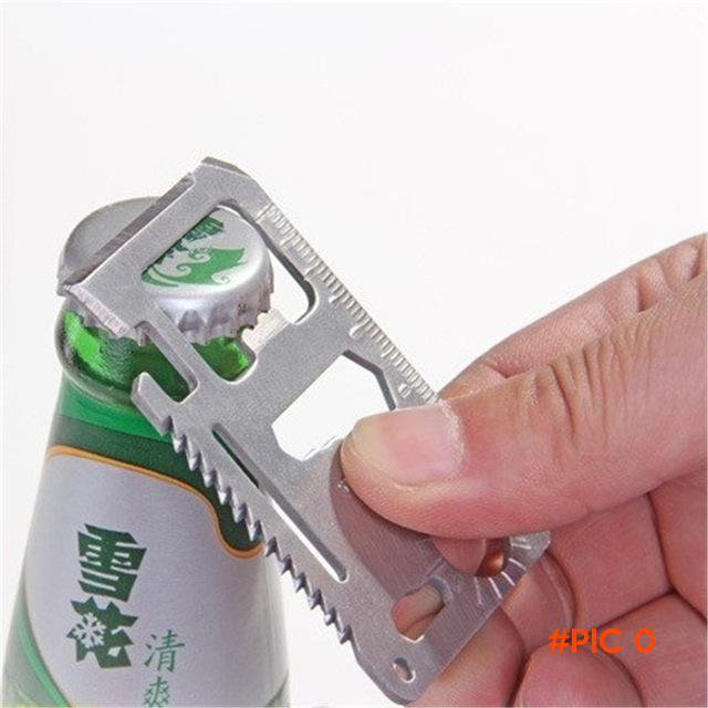 1 pcs Camping Multipurpose Tool 11 in 1 Multifunction Card Knife Pocket Survival Tool Outd