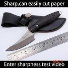 Sharp Browning Handmade hunting knife 7cr13 steel Ebony Wood handle Camping Tactical pocke