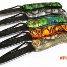 New Creative F16 Model Skull Handle Folding Knife Outdoor Camping Hunting Survival knives