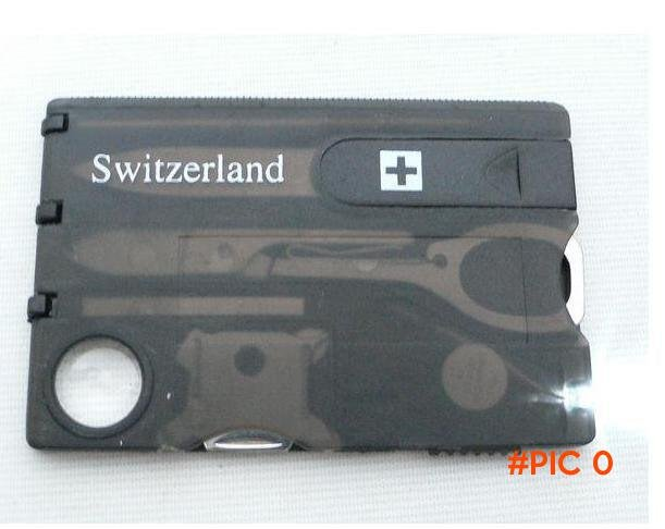 Free Shipping 5pcs/lot  Swizerland 12 IN 1 Credit Card Tool Knife Blade Business Card Knif