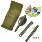 Portable Mini Tableware Set outdoor Tool Folding Cutlery Set with Spoon Fork Knives for Ca