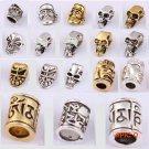 10psc/lot Skull Metal Pandora Beads Pirate Camping DIY Paracord Accessories Alloy Pendant
