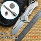 Ben Star Lord DAIDO STEEL D2 blade Ceramic ball bearing Flipper folding knife Titanium out