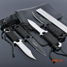4pcs/set  high quality Swiss Puttee straight knife outdoor survival portable Army Knife to