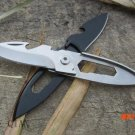 Stainless steel multi-function folding knife outdoor camping keychain fruit knife free shi
