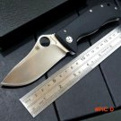 Newest C157 Flipper folding knife LionSpy G-10 Titanium Elmax Plain Edge Folding Knife  C1