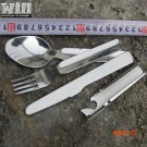 430 Stainless Steel Dinnerware Knife Fork  Spoon Portable tableware Cutlery Camping  Outdo