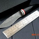 High quality. 100% Damascus steel straight knife, hunting knife, camping survival knife. r