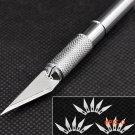 6/16/20/30 Pcs Blades Non-Slip Metal Scalpel Knife Tools Kit Cutter Engraving Craft Knives