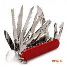 17 In 1 Multi-Functional Stainless Steel Folding Knife 91MM Defensive Camping Knife Outdoo