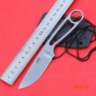 Ant  IZULA fixed blade knife tactical hunting knife with Rowen D2 blade camping straight E