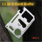 11 Functions in 1 Survival Card Knife  Pocket Saber Card for Outdoor Camping  BC816