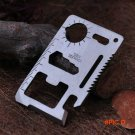 1pcs 11 in 1 Multi Function Portable Outdoor Saber Card Knife Screw Wrench Opener For Camp
