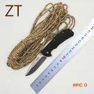 BMT ZT Hunting Folding Knife Utility Tactical Knife Steel Blade Titanium Pocket Survival E
