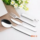 New Arrive Stainless Steel Western Dinnerware Sets Portable Camping Picnic Cutlery Pocket
