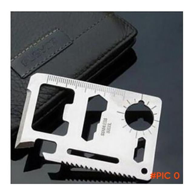 New! 1 pcs Outdoor Camping Multipurpose tool 11 in 1 Multifunction Card Knife, Pocket Surv