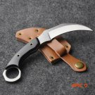 Fixed Blade Camping Hunting Knife Survival Knives & Leather Sheath BC973