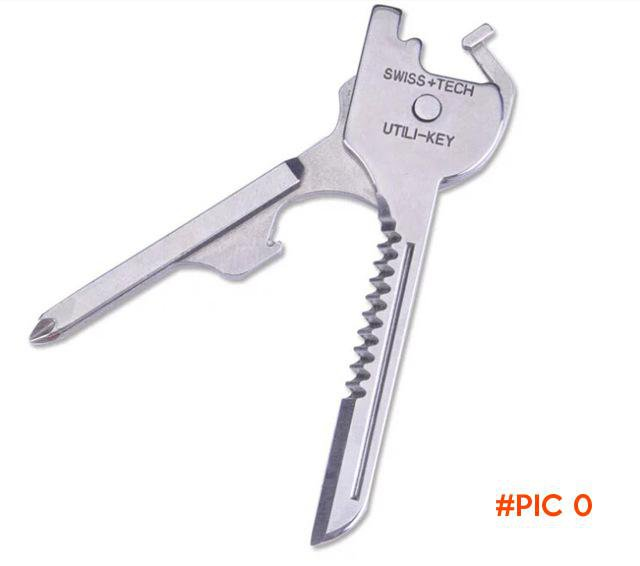 High Quality Portable 6 In 1 Mini Utility Tool Knife Key for Camping Outdoor Key Ring Chai