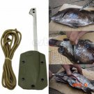 EDC gear Stainless steel fishing harpoon fish scale flake blade knife with Sheath outdoor