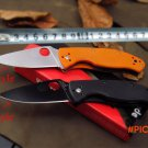 Hot 2016 new style pocket knife High quality Spiderco C81 military Folding knife Camping h