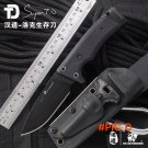 ( HX OUTDOORS ) Hunting Knife Outdoor D2 Steel Small Straight Knives Rescue Survival Campi