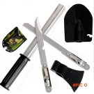 New Outdoor Camping Tools Kit/Set Hiking Survival Knife tool Multi-purpose 4-in-One Surviv
