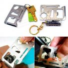 Multi-Purpose 11-in-1 Stainless Steel Survival Tool Emergency Card Pocket  Free Shipping D