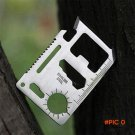 2016 Universal Stainless Steel Knife Card Life-saving Tool Driver Pocket Free Shipping H175 BC1314
