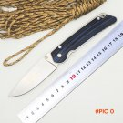 BMT Custom Folding Knife Ball Bearings Flipper D2 steel blade G10 + steel handle outdoor T