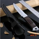 factory direct Hot Sell 7inch outdoor knife multifunction color wood small straight knife